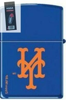 Zippo 0806 new york mets logo Lighter + FLINT PACK