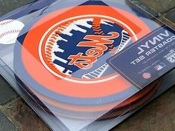 1 - 4 Pack Vinyl Drink Coasters - New York Mets