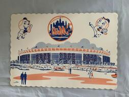 14X10 New York Mets Paper Place Mat For Diner Tables Mr. Met