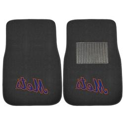 FANMATS 18570 MLB New York Mets 2-Piece Embroidered Car Mat