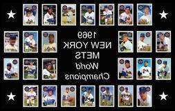 1969 NEW YORK METS Custom Baseball Card POSTER Unique Team P