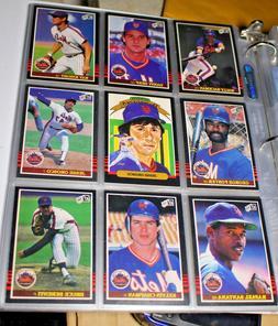 1985 Donruss New York Mets Team Baseball Cards Set in Binder