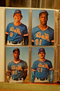 1985 New York Mets Postcards Complete Set in Binder Sleeves