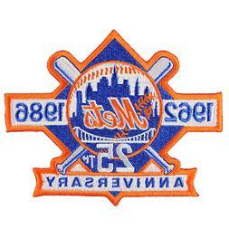 1986 New York Mets 25th Anniversary Logo Mlb Jersey Sleeve E