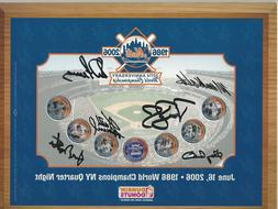 1986 New York Mets Autographed 20th Anniversary Quarter Coin