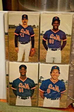 1986 New York Mets Postcards Complete Set in Binder Sleeves
