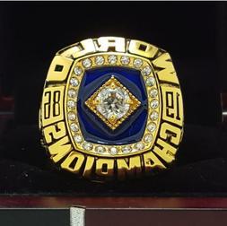 1986 New York Mets World Series Championship copper Ring 8-1