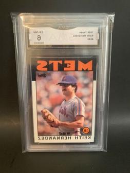 1986 Topps Keith Hernandez #520 Card New York Mets Graded GM