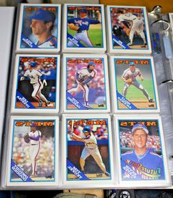 1988 Topps New York Mets Team Baseball Cards in Binder Sleev
