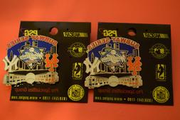 2 VINTAGE 2000 WORLD SERIES LAPEL PINS NY YANKEES VERSUS THE