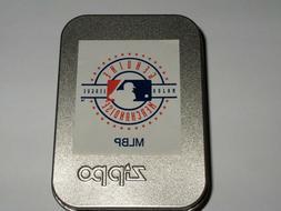 Zippo 2002 MLB Major League Baseball Street Chrome Lighter