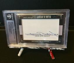 2012 Leaf Cut Signatures History Of Baseball Edition Juan Be