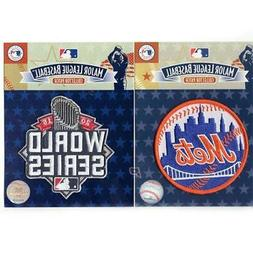 2015 MLB World Series & New York Mets Home Sleeve Patch Comb