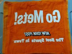 2015 Playoff Run, GO METS RALLY TOWEL Orange New York Post N