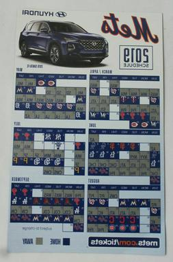 2019 New York Mets Magnetic Hyundai Schedule Citi Field SGA