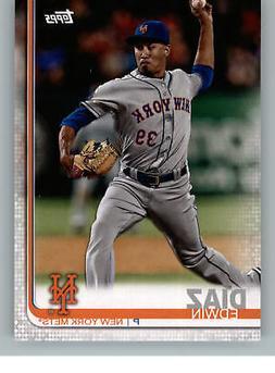 2019 Topps Team Set Card New York Mets NM 9 Edwin Diaz New Y
