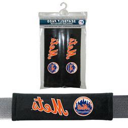 2PC MLB New York Mets Car Truck Bag Seat Belt Pads / Shoulde