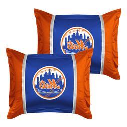 2pc New York Mets Pillow Sham Set Baseball Bedding