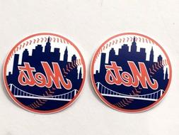 2x New York Mets Car Window Laptop Bumper Wall Macbook Vinyl