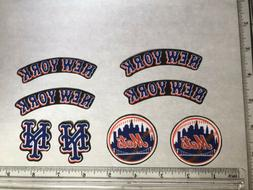 8 New York Mets Rare OOP Fabric Applique Iron On Ons Set 2