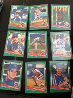 9 New York Mets 1991 Don Russ Baseball Cards Protective Slee