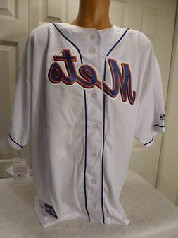 "9601-14 Majestic NEW YORK METS ""Plus Sizes"" Baseball Jersey"