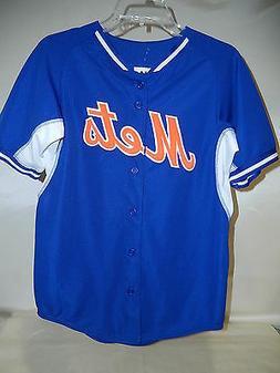 "9601 MAJESTIC Boys Youth NEW YORK METS ""COOL BASE"" Baseball"