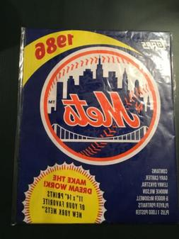 Topps Authentic 1986 MLB New York Mets Player Portraits Post