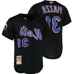 Black MITCHELL & NESS MLB New York Mets #31 Mike Piazza BATT