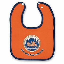 BRAND NEW MLB New York Mets 2-Tone Snap Baby Bib