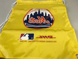 BRAND NEW NEW YORK METS MLB YELLOW DRAWSTRING BACKPACK SGA F
