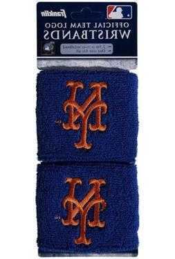 Brand New New York Mets Wristbands Sweatbands Two Pack Blue