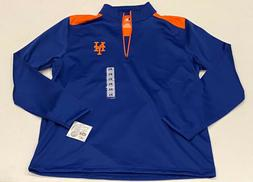 MLB Brand New York Mets 1/4 Zip Pullover Fleece Sweater Mens