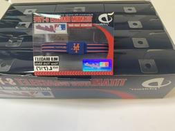 Case of 12 Phiten New York Mets Bracelets Wristbands MLB Box