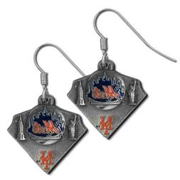 Siskiyougifts New York Mets Classic Dangle Earrings