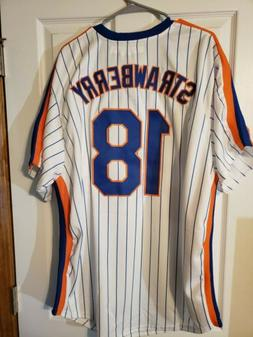 darryl strawberry majestic cooperstown colllection jersey ne