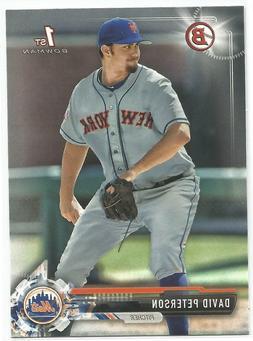 David Peterson New York Mets 2017 1st Bowman Draft Baseball
