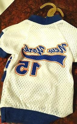 DOG T-SHIRT jersey, NEW YORK METS, MADE IN USA, TEA CUP- SM.