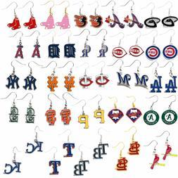 earring dangle logo charm MLB PICK YOUR TEAM