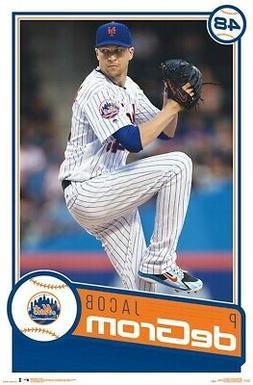 JACOB DEGROM - NEW YORK METS POSTER - 22x34 - MLB BASEBALL 1