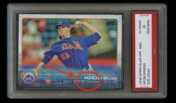 JACOB DeGROM TOPPS ROOKIE OF THE YEAR CARD 1ST GRADED 10 NEW