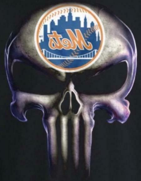 2 ny new york mets punisher skull