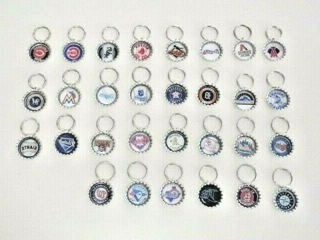 mlb baseball team key chains choose from