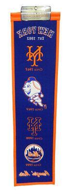 New York Mets 8x32 Embroidered Genuine Wool MLB Team Heritag