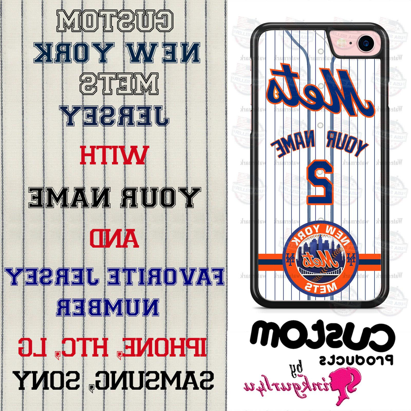 CUSTOMIZED NEW YORK METS BASEBALL PHONE CASE COVER FITS iPHO