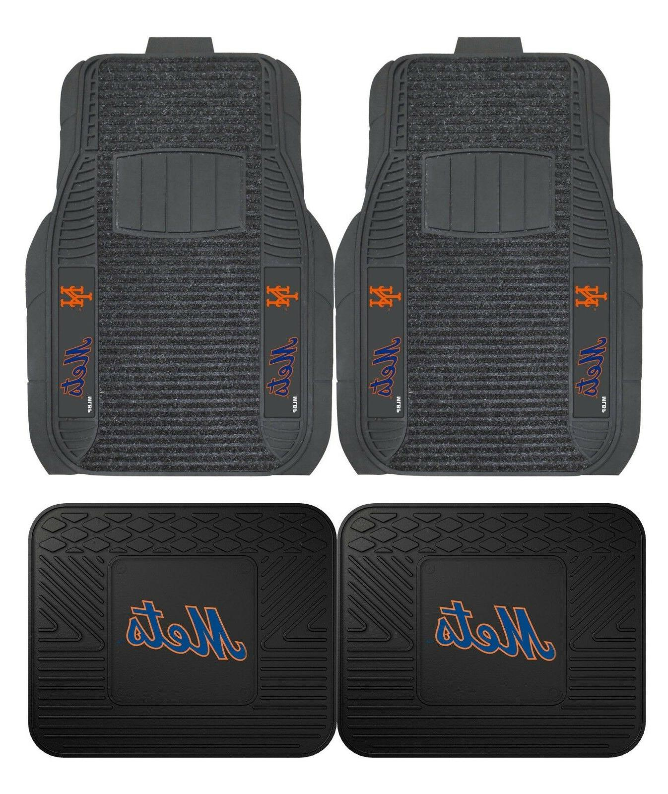 new york mets deluxe auto floor mats