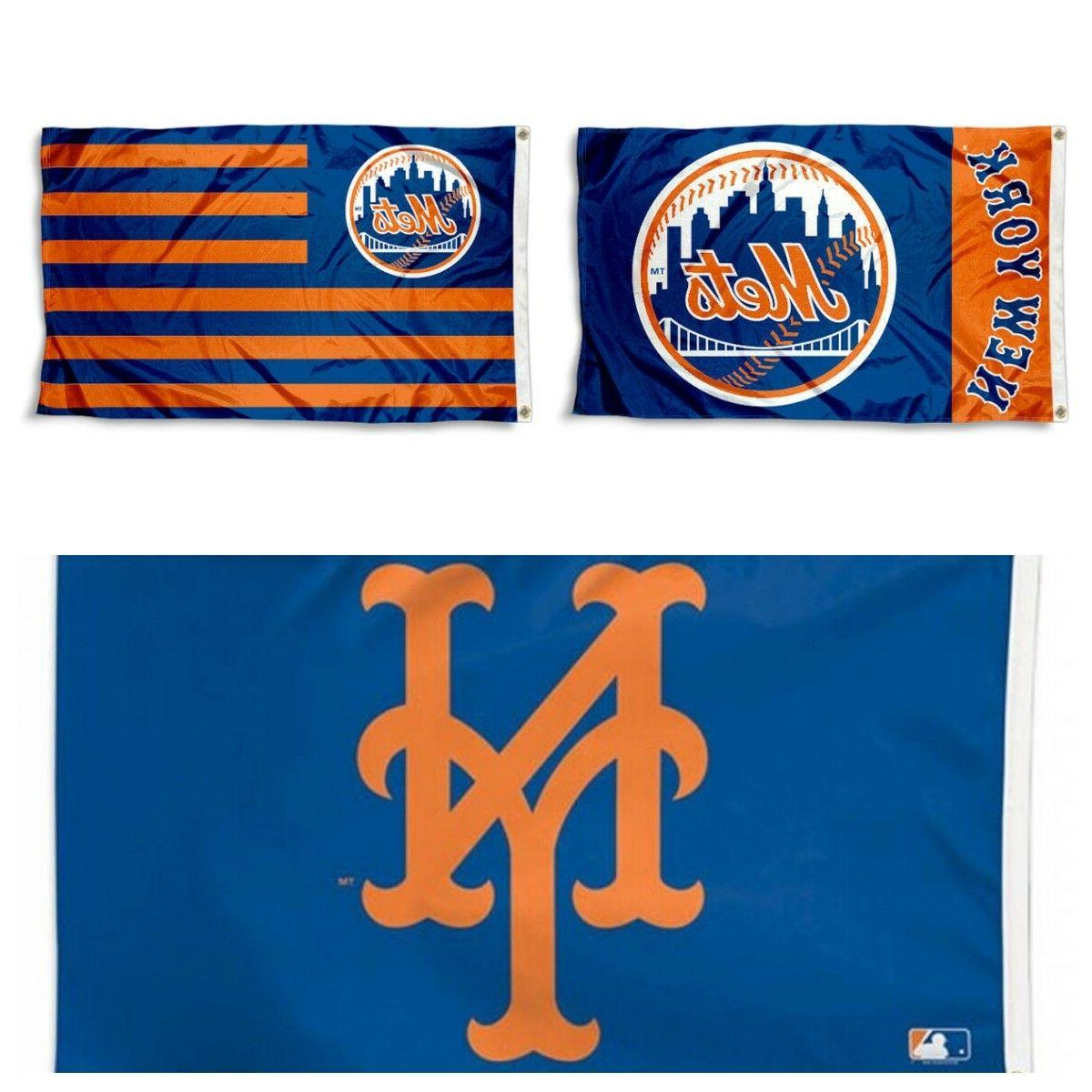 new york mets flag 3 x5 mlb