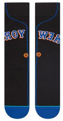 New York Mets Stance MLB Cooperstown 1999 Black Jersey Socks