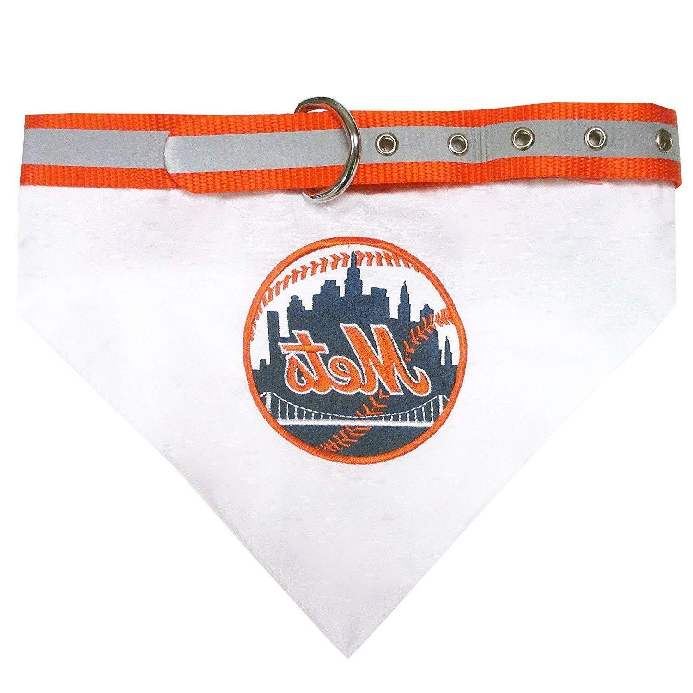 new york mets mlb dog collar bandana