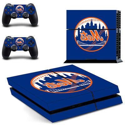 New York Mets PS4 Skin Sticker Decal Vinyl Console+2 control
